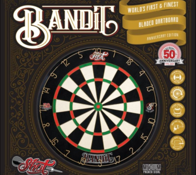 SHOT Bandit Anniversary dartbord limited edition